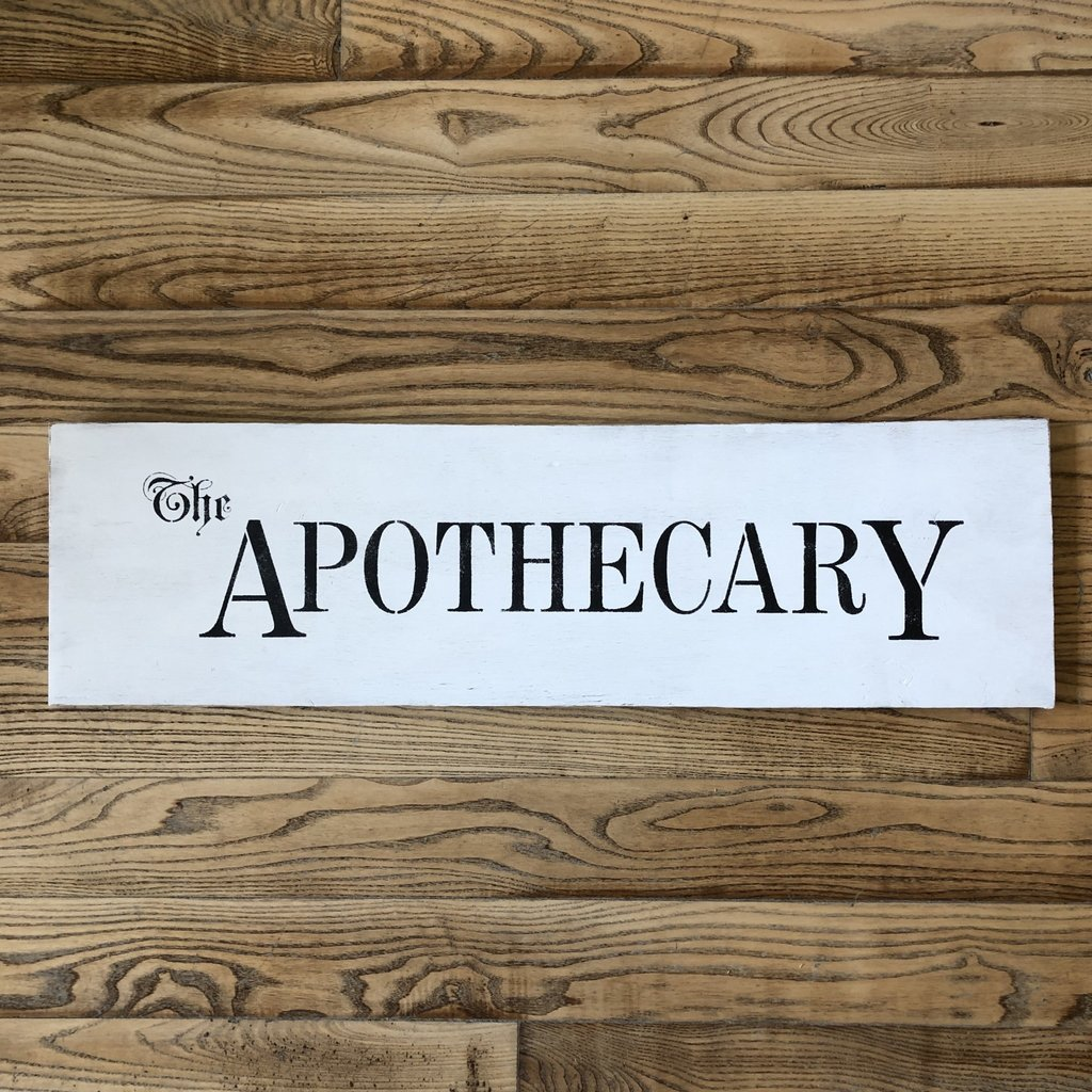 Apothecary Sign - Assorted Colours