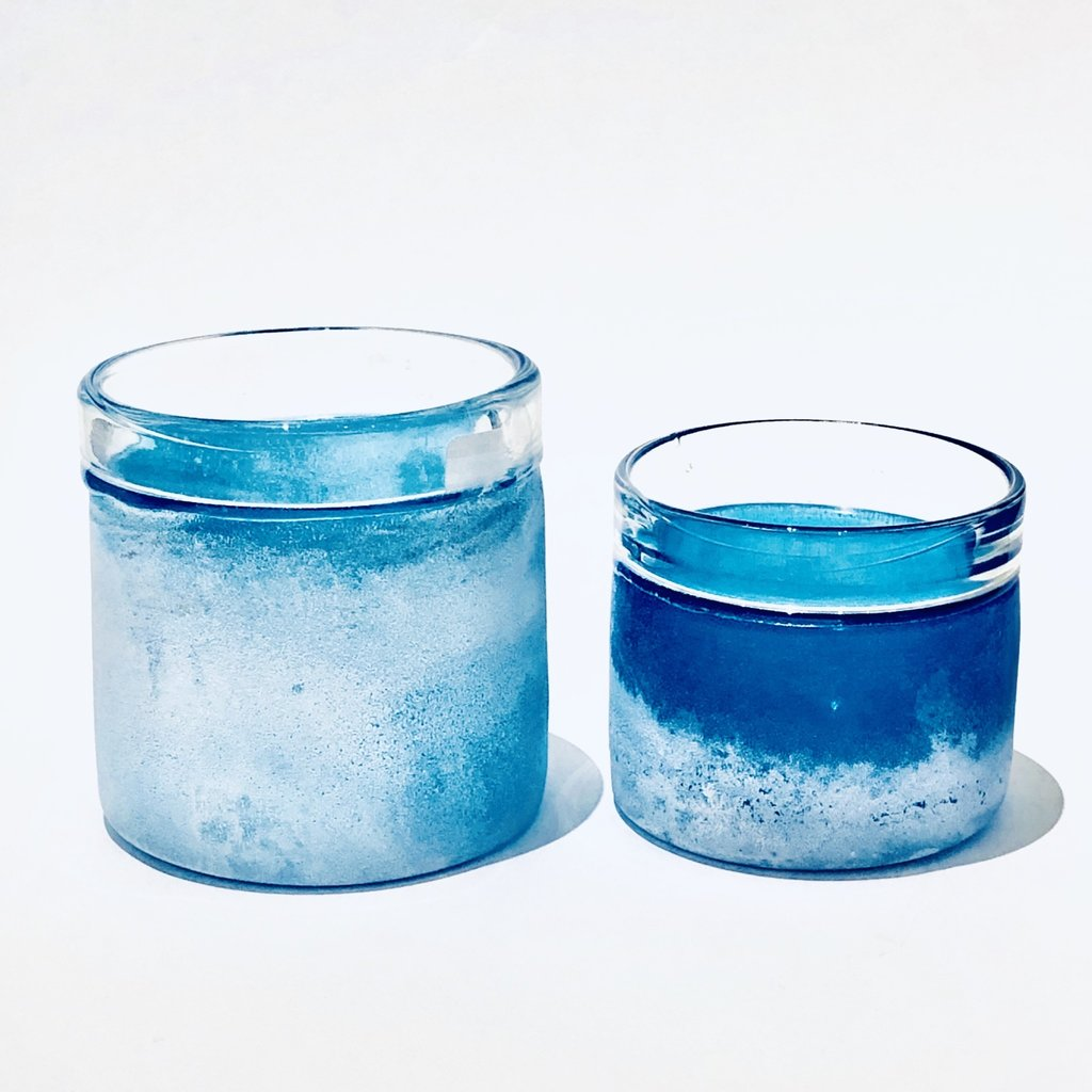 Mist Votive Holders, Blue