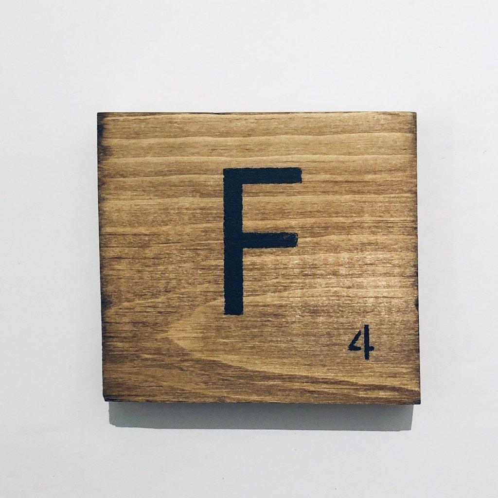 Scrabble Tiles A - H