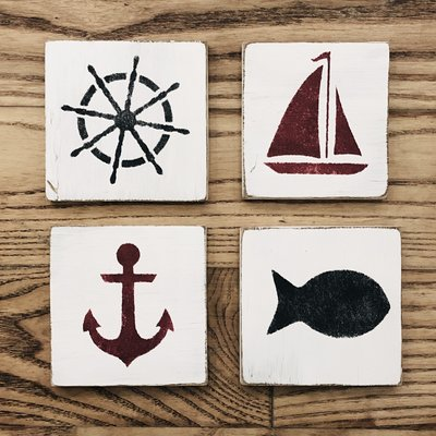 Summer Coasters - Set of 4
