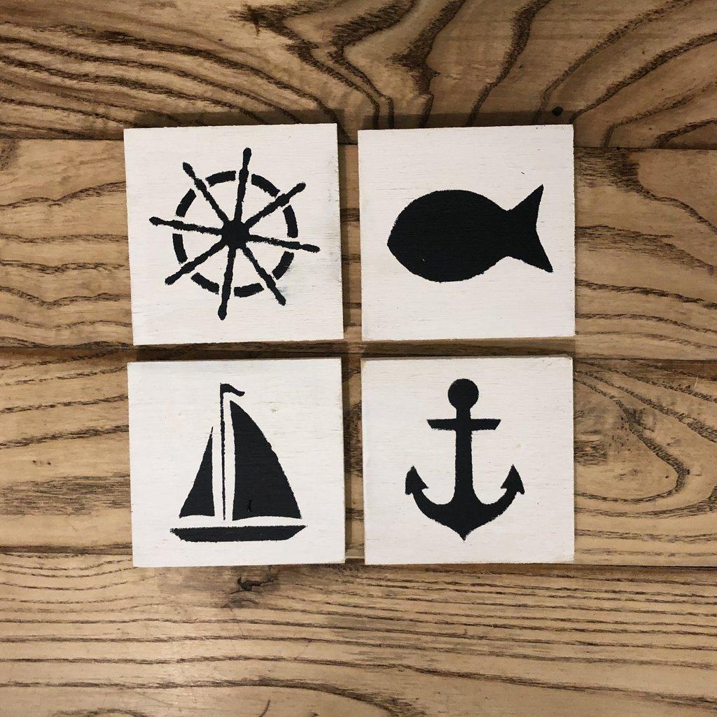 Summer Coasters - Set of 4