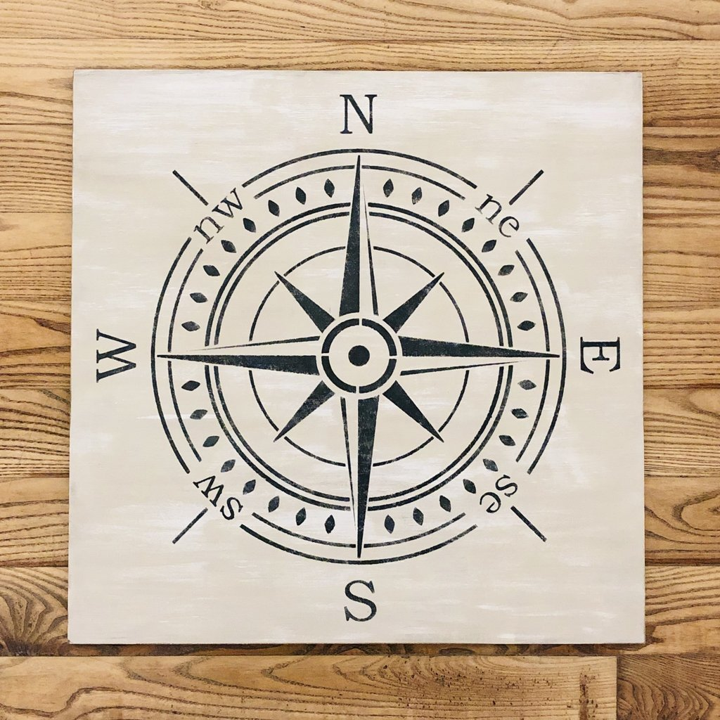 Haven Home & Gift Wood Compass Sign