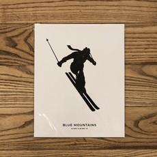 """Saltwreck Blue Mountains Skier Print - 8"""" x 10"""""""