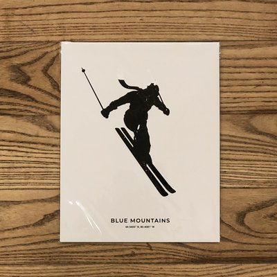 "Saltwreck Blue Mountains Skier Print - 8"" x 10"""