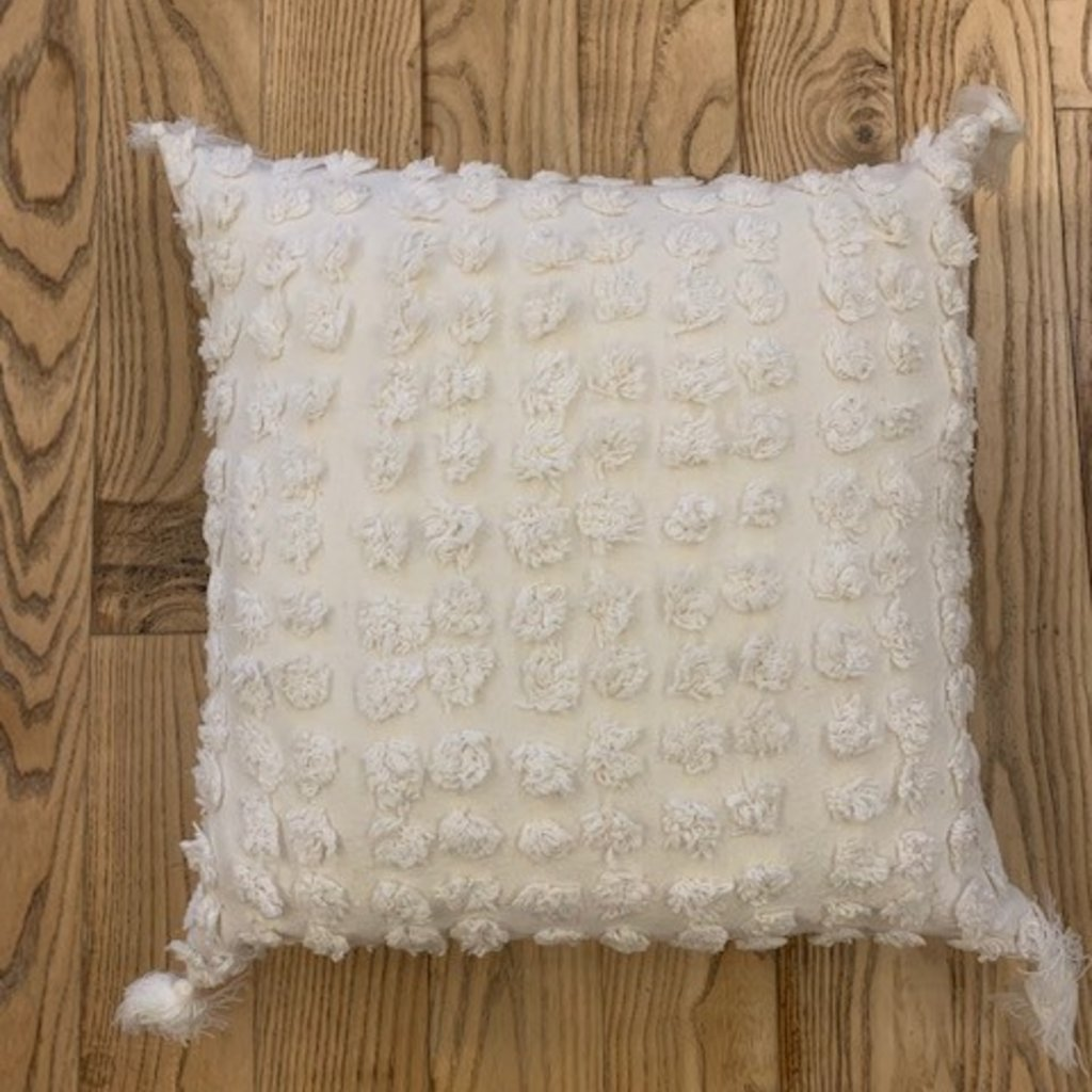 Ivory Tufted Cushion