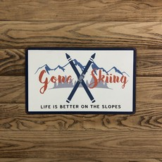 Tin Sign - Gone Skiing