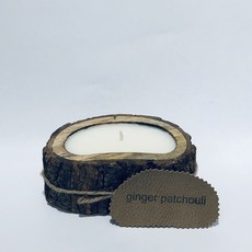 Irregular Tree Bark Candle