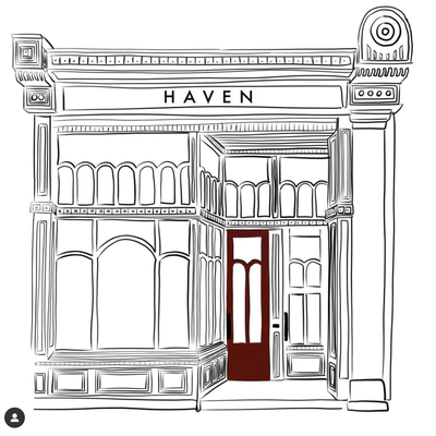 Custom House or Storefront Illustration by Claire