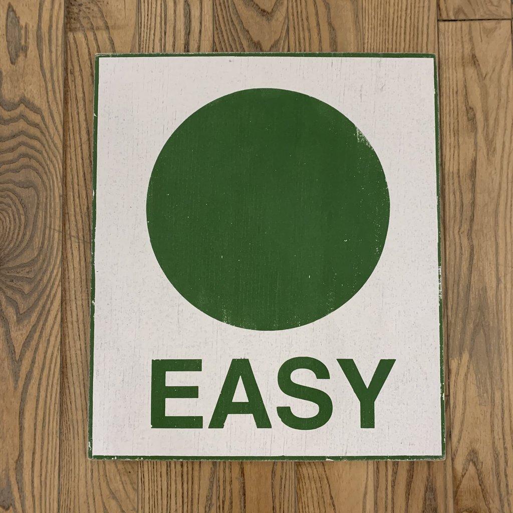 "Ski Sign - Easy 18"" x 24"""