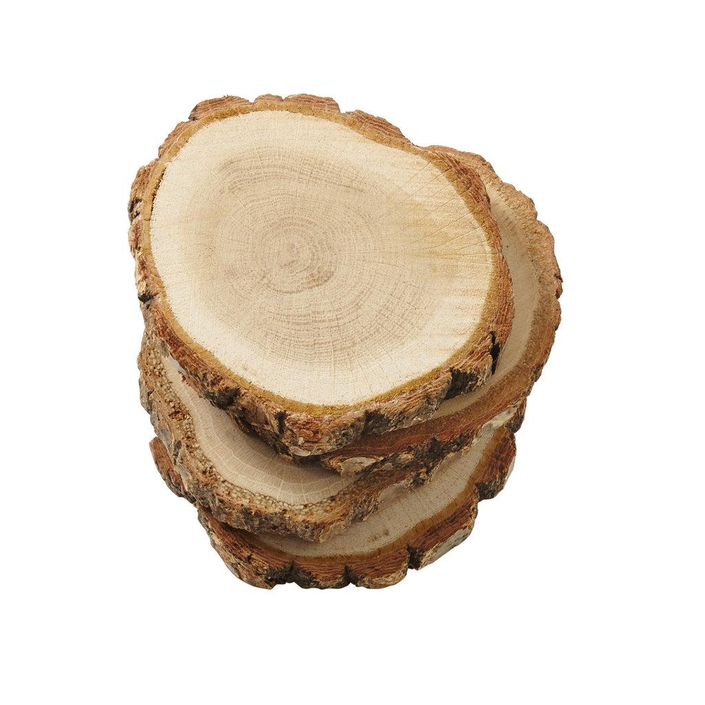Wood Slice Coaster Set