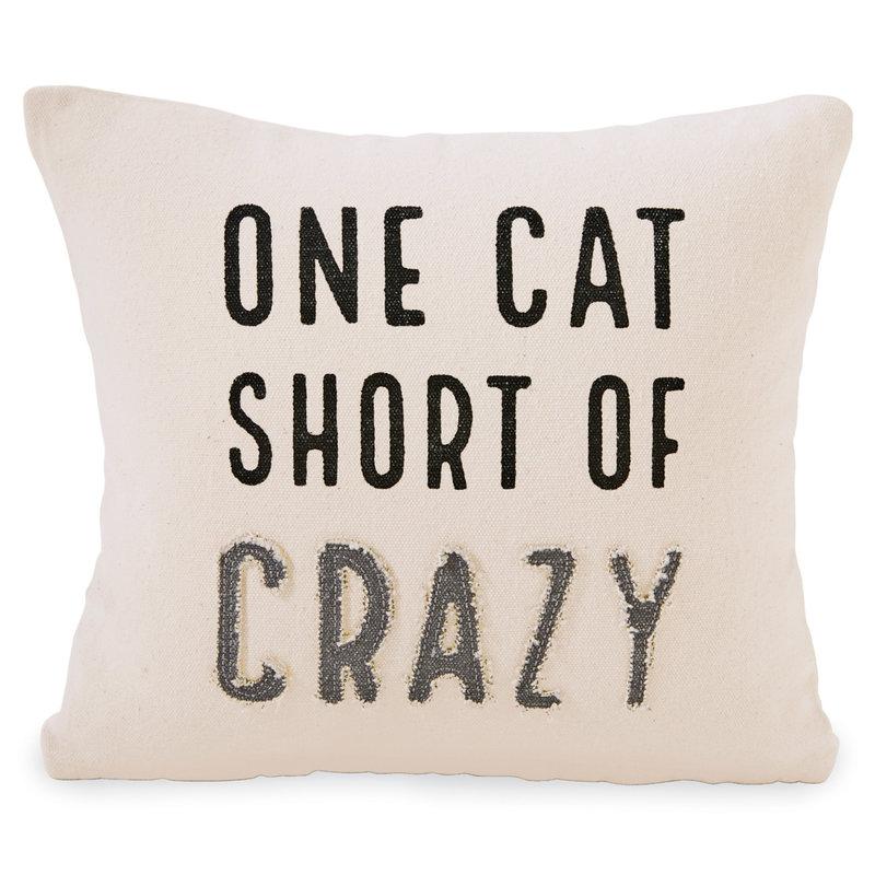 Crazy Cat Canvas Pillow