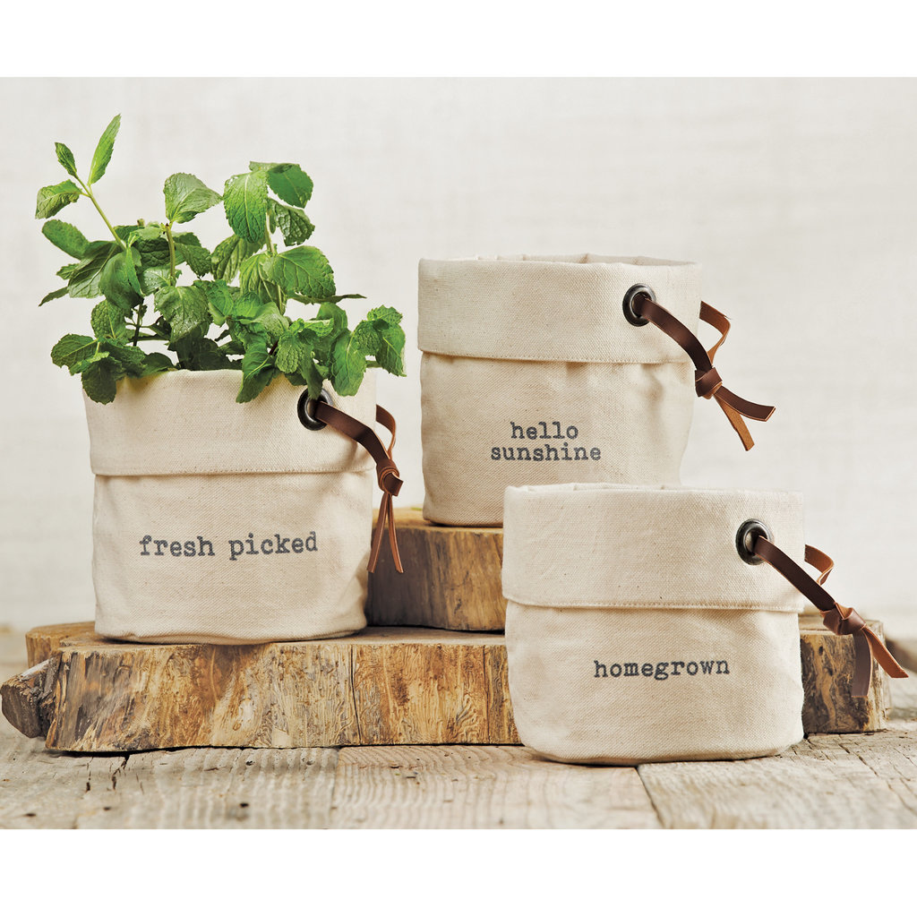 Canvas Planter Basket