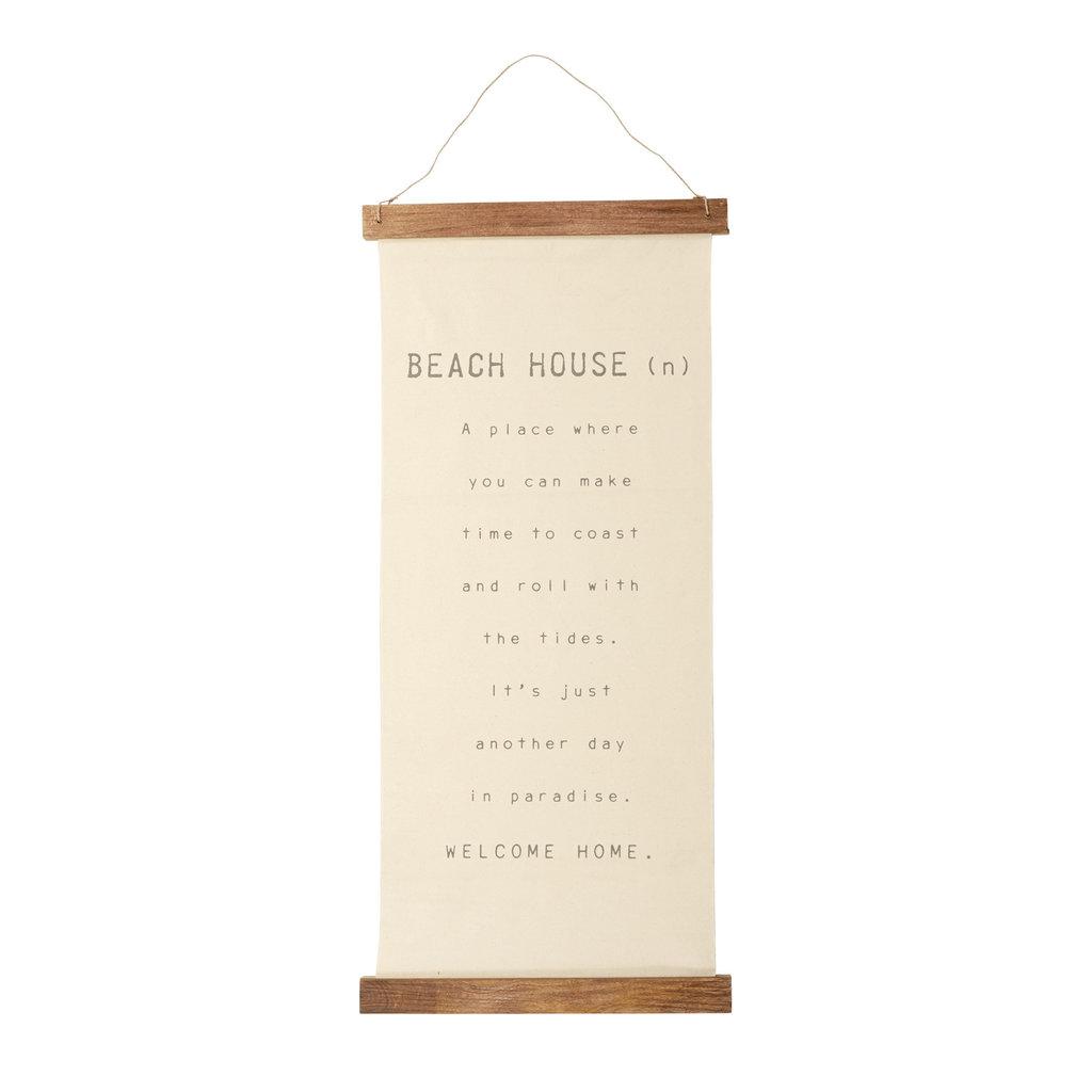 Beach House Hanging Canvas