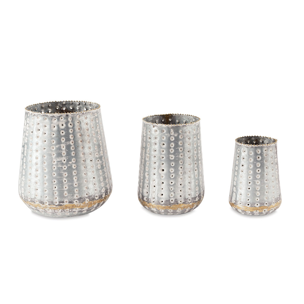 Tin Pierced Candle Holders