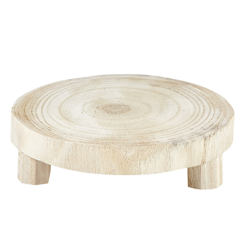 Small Natural Paulownia Wood Riser