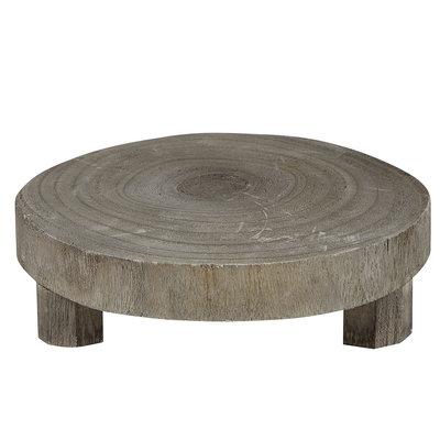 Small Grey Wood Riser