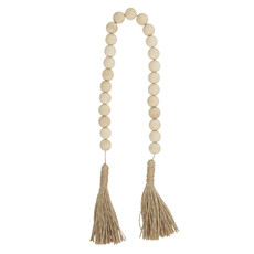 Natural Wood Beads with Tassel