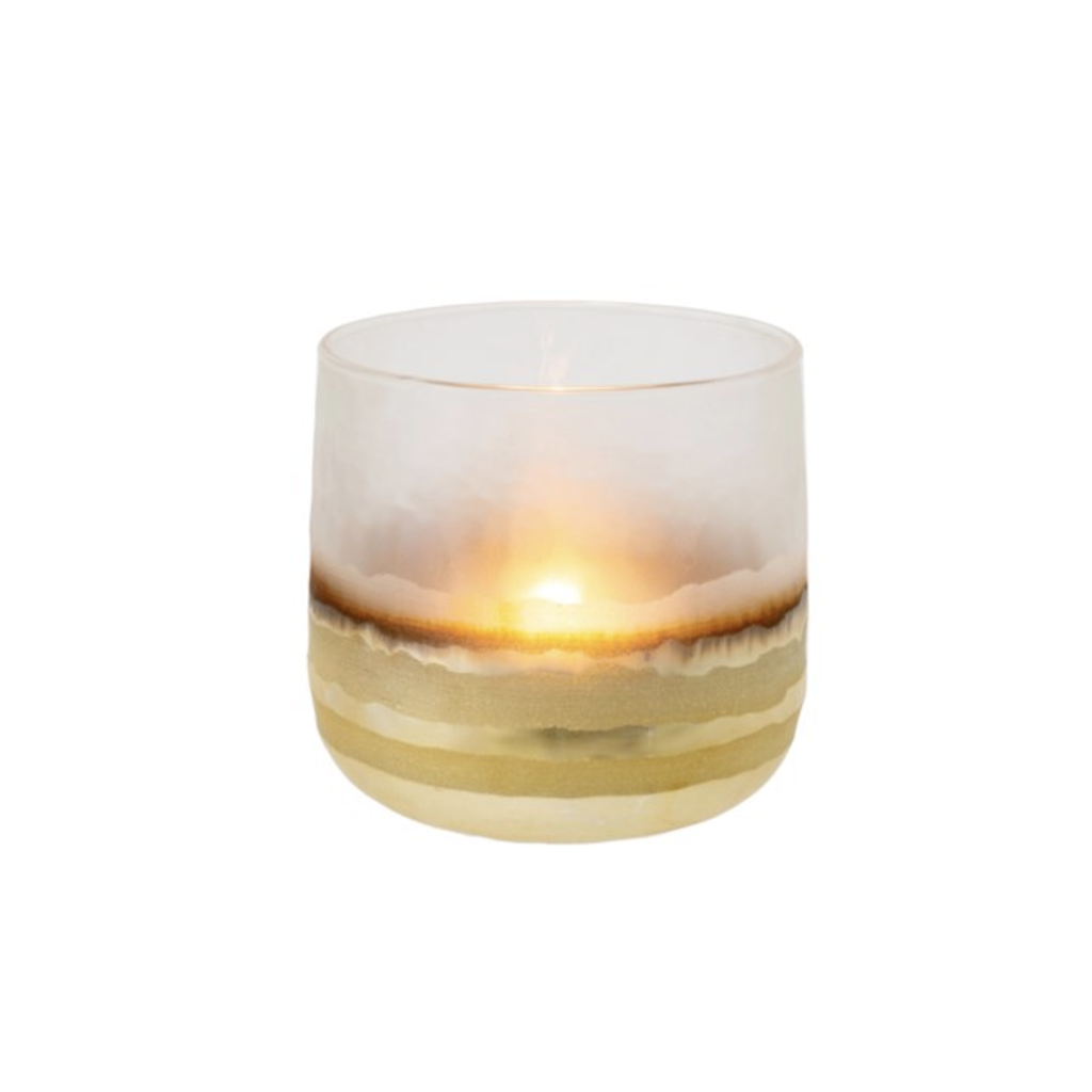 Gold & Glass Echo Candle Holders