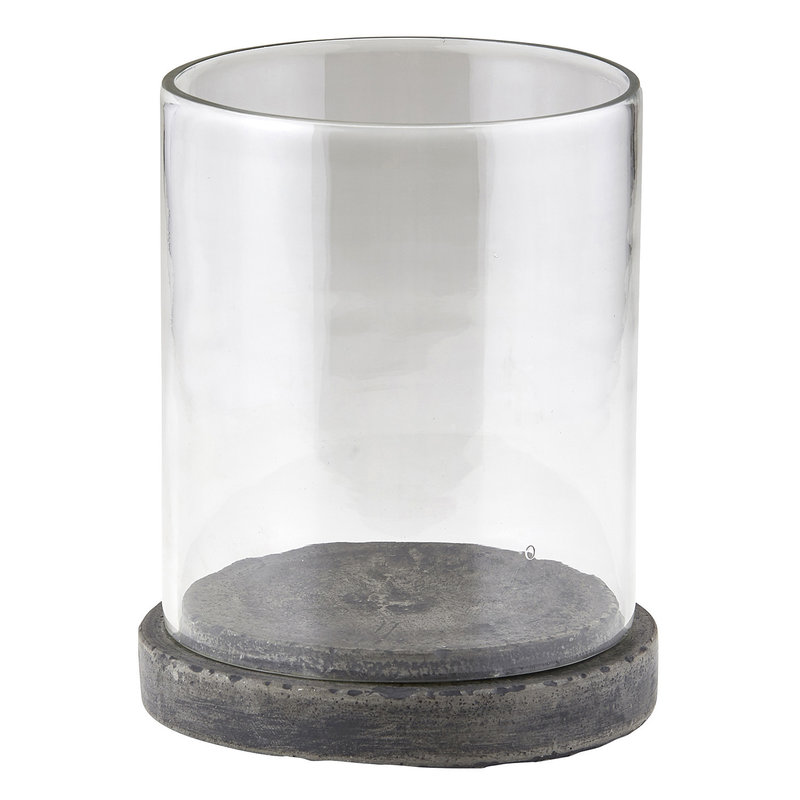 Concrete Hurricane Candle Holder