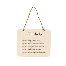 Self Help Tin Sign