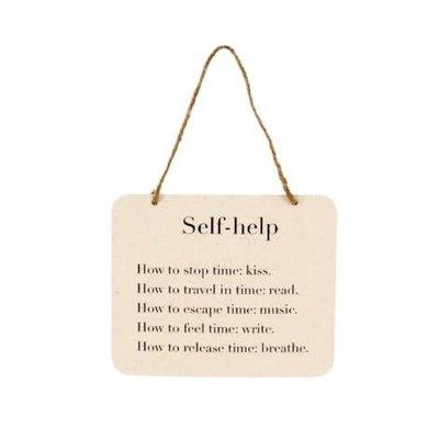 Self Help Tin Sign