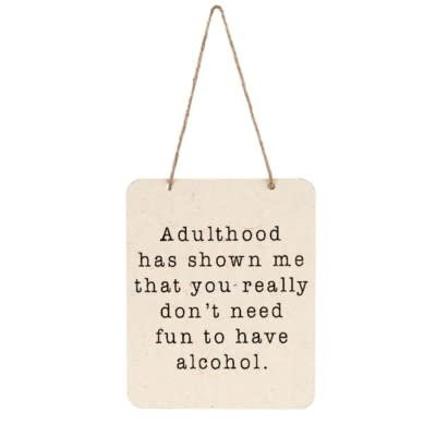 Adulthood Tin Sign