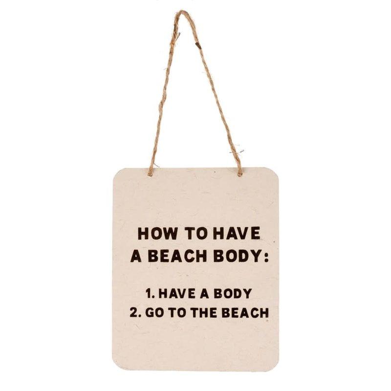 Beach Body Tin Sign