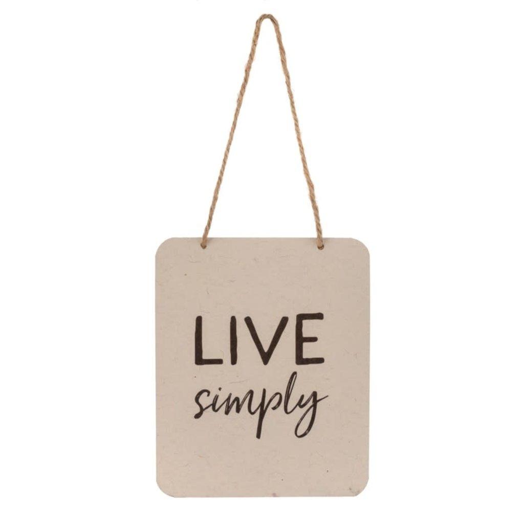 Live Simply Tin Sign