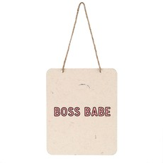 Boss Babe Tin Sign