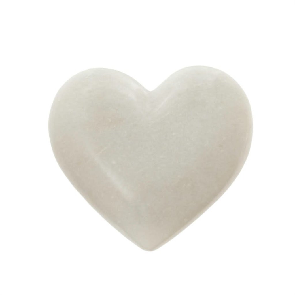 Large White Marble Heart