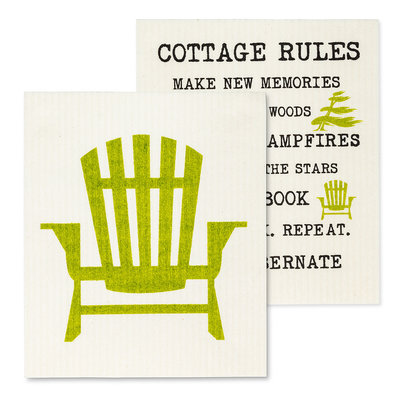 Chair & Cottage Rules Dish Cloth