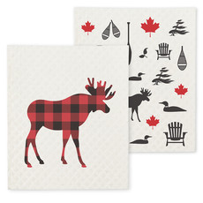 Moose & Icon Dish Cloth