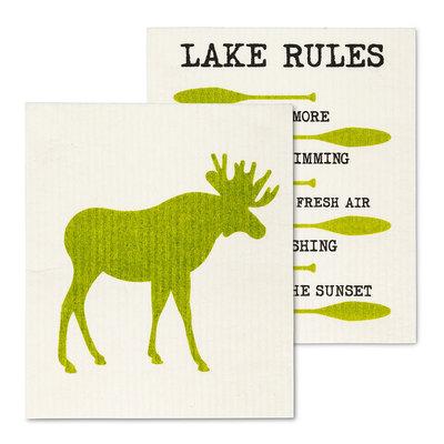 Moose & Lake Rules Dish Cloth