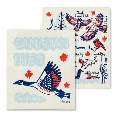 S/2 Canadian Birds Dishcloths