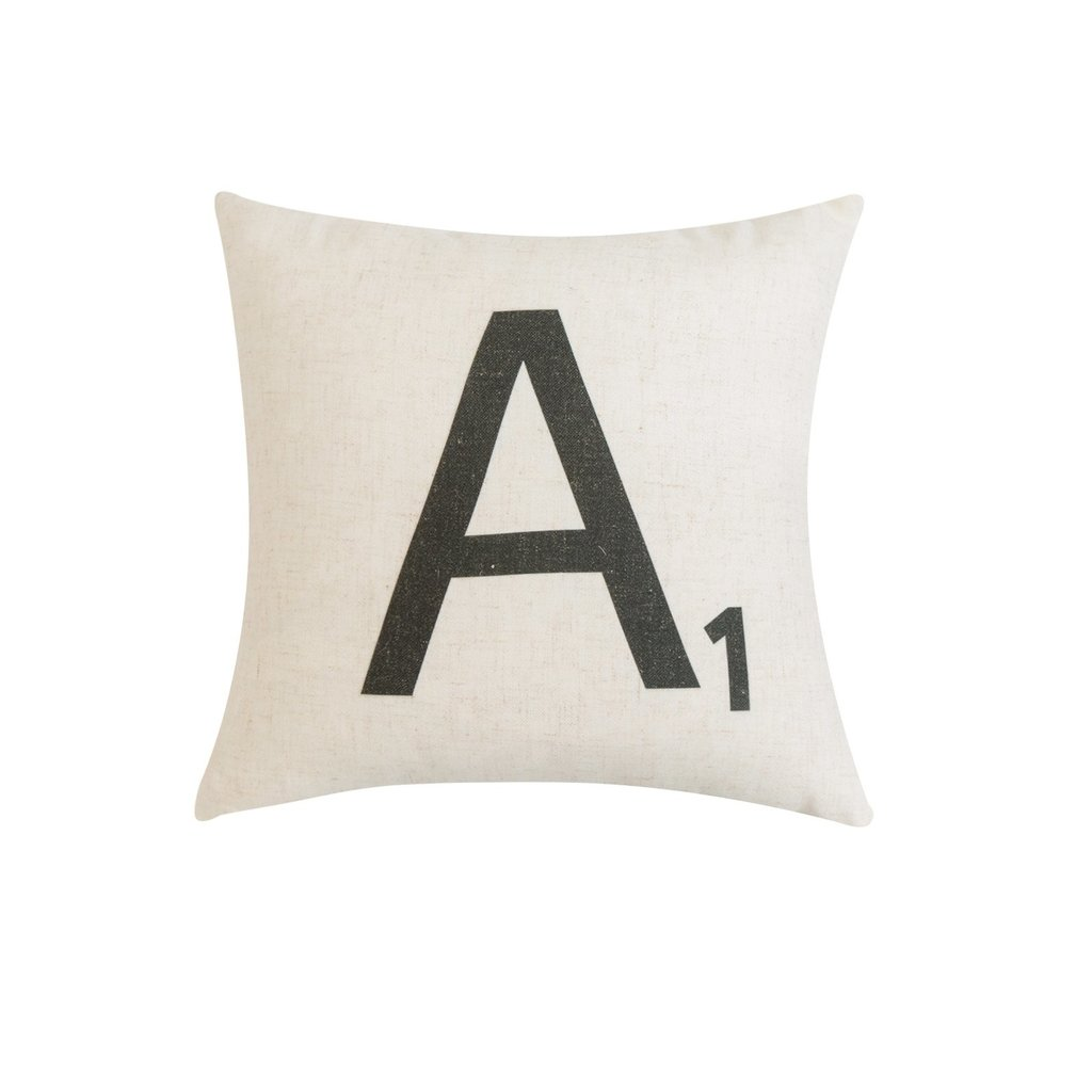 Scrabble Letter Pillows