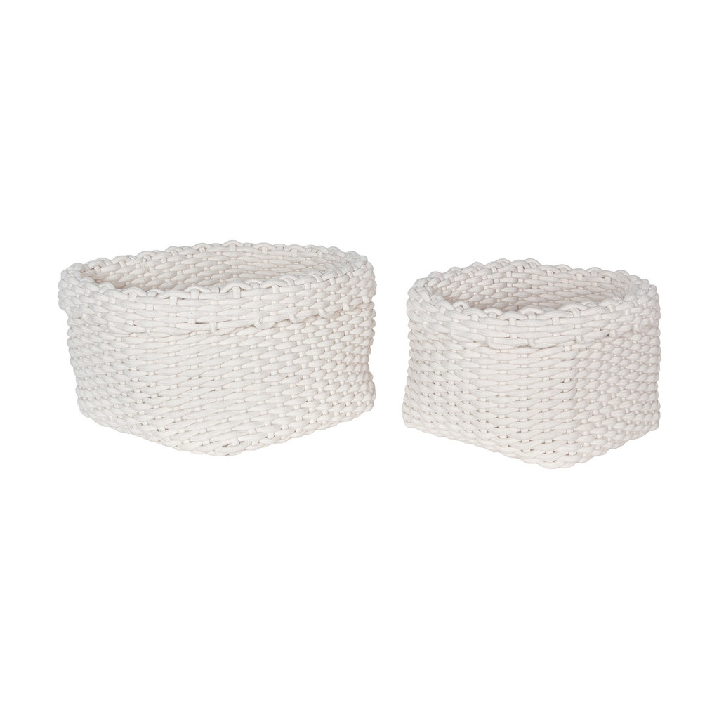White Rope Baskets