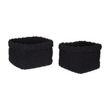 Black Rope Baskets