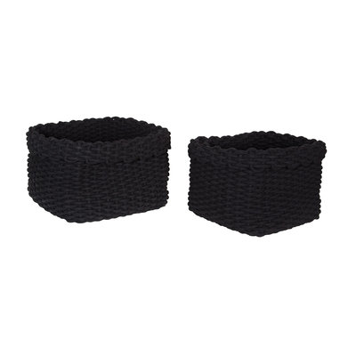 Black Rope Baskets