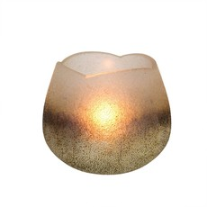Cream Metallic Tulip Tealight Holders