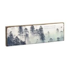 The Quieter You Become Timber Art Block