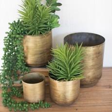 Assorted Antique Brass Pots