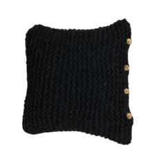 Knitted Charcoal Pillow