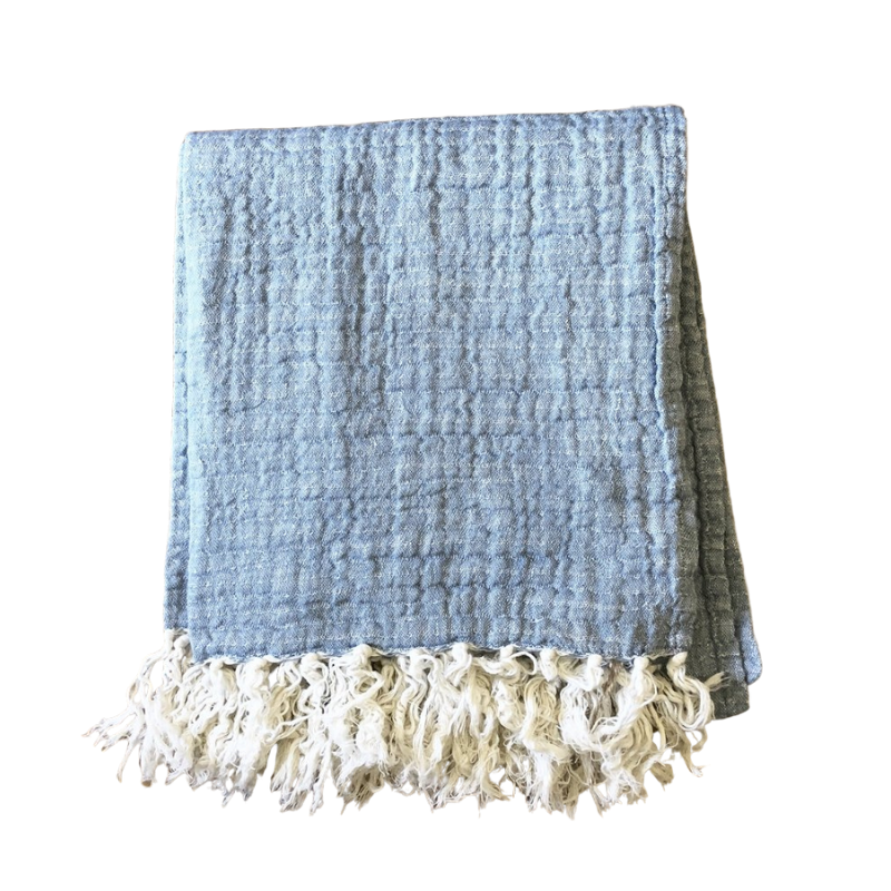 Linen Tassel Throw