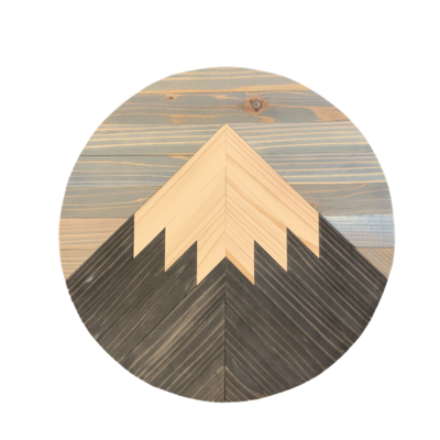 Handcrafted Round Mountain Art
