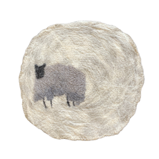 Felted Sheep Table Mat