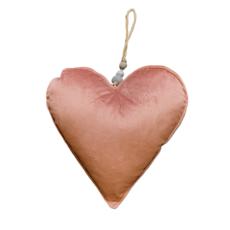 Large Blush Velvet Heart