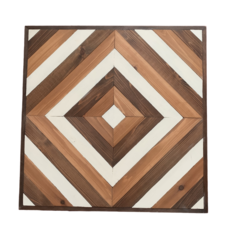 Geometric Wooden Diamond Wall Art