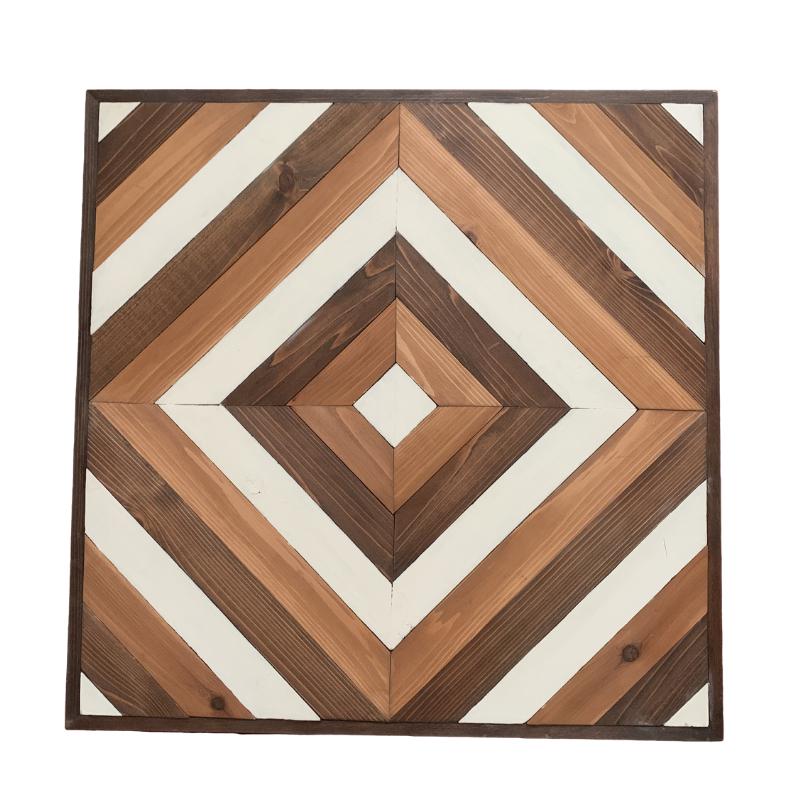 Geometric Wooden Diamond Wall Art