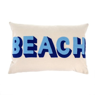 Beach Embroidered Pillow