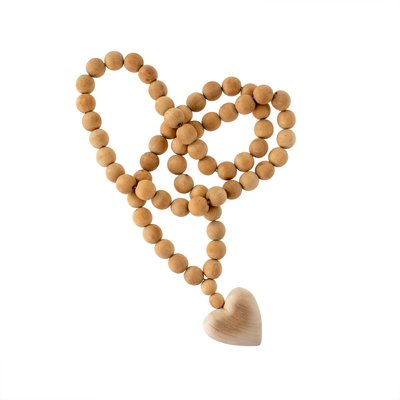 Large Wooden Heart Prayer Beads